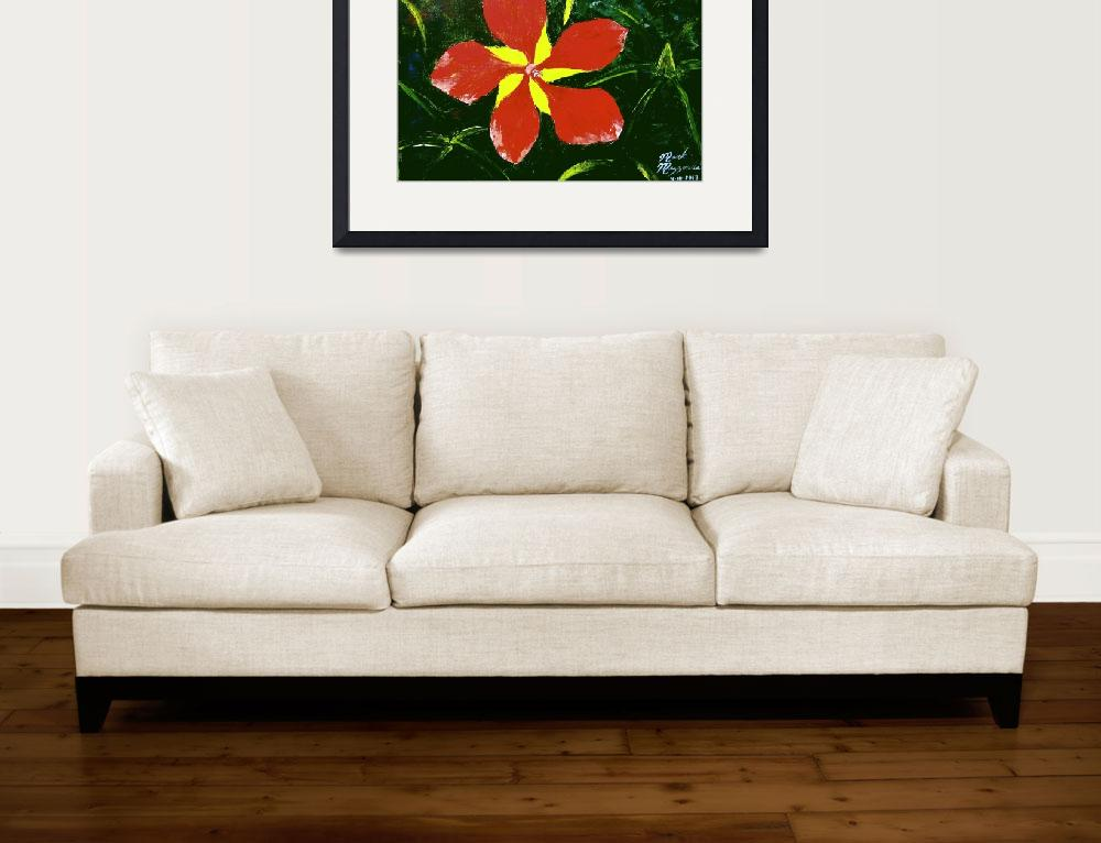 """Florida Scarlet Hibiscus&quot  (2013) by mazz"