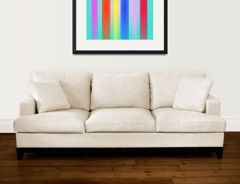"""Vertical Stripes Art Square&quot  by masabo"