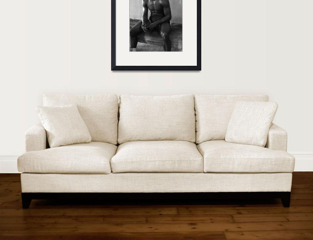 """Muhammad Ali sitting and relaxing&quot  by RetroImagesArchive"