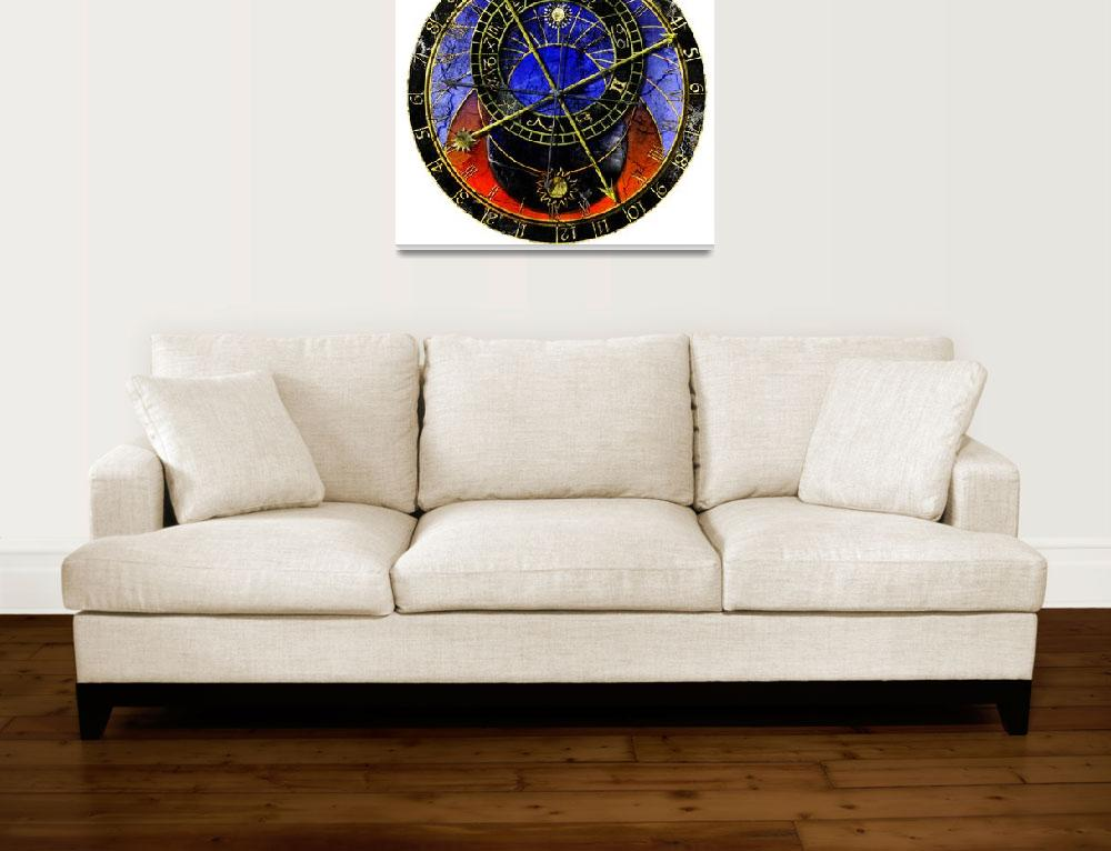 """Astronomical Clock In Grunge Style&quot  (2010) by lamich"