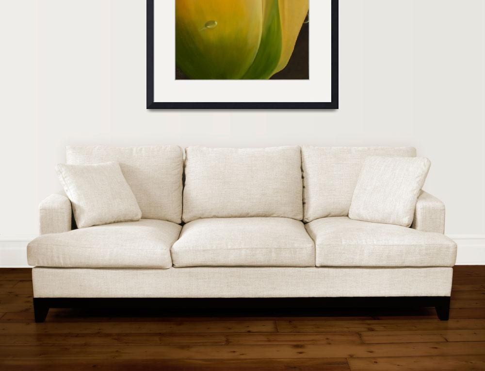 """Yellow Tulip&quot  (2009) by heuscherartnoosa"