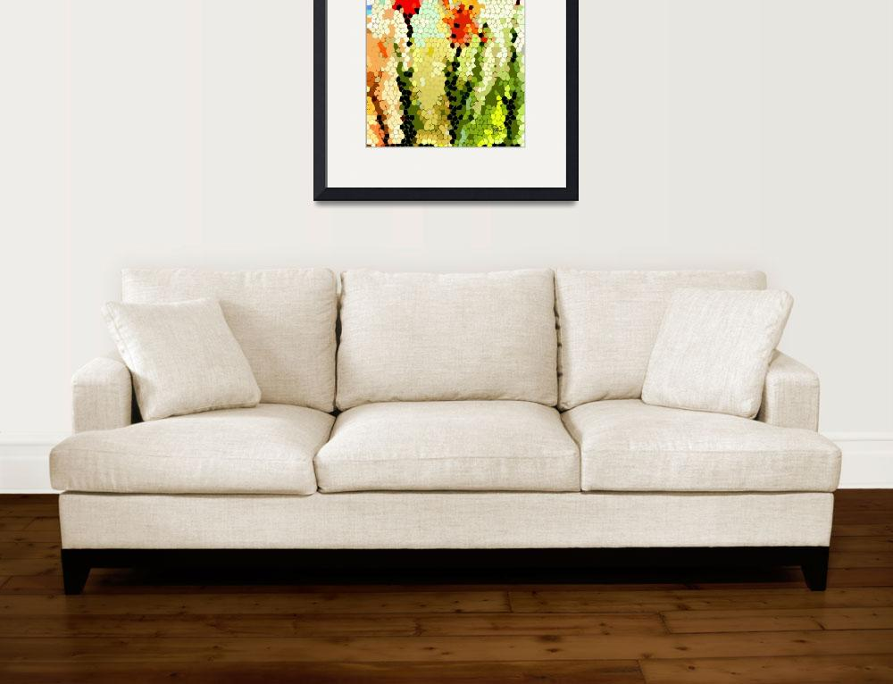 """Abstract Tulips Modern Art by Ginette&quot  (2012) by GinetteCallaway"