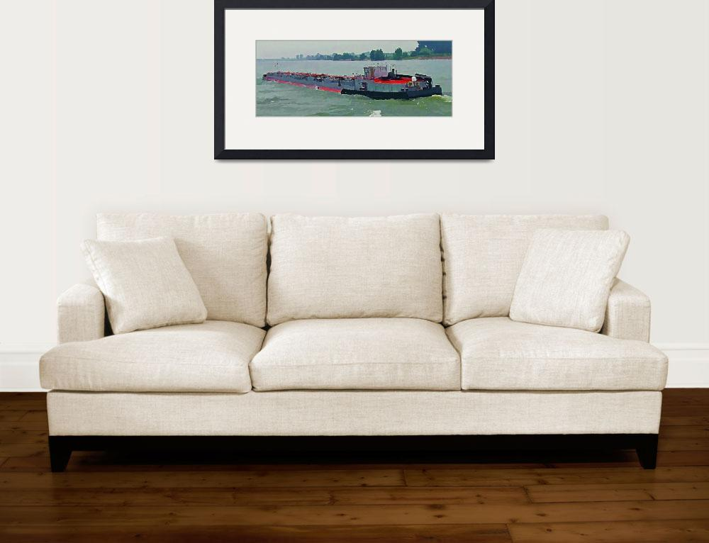 """Barge on the Rhine10&quot  (2009) by billbarber"