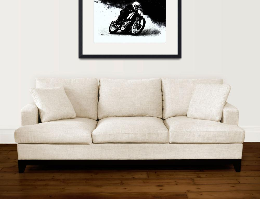"""The Vintage Motorcycle Racer&quot  (2016) by mark-rogan"