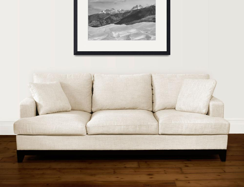 """The Great Sand Dunes  BW Print 45&quot  (2010) by lightningman"