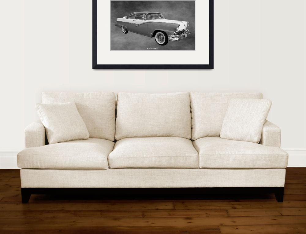 """1956 Ford Fairlane Victoria&quot  (2011) by bettynorthcutt"