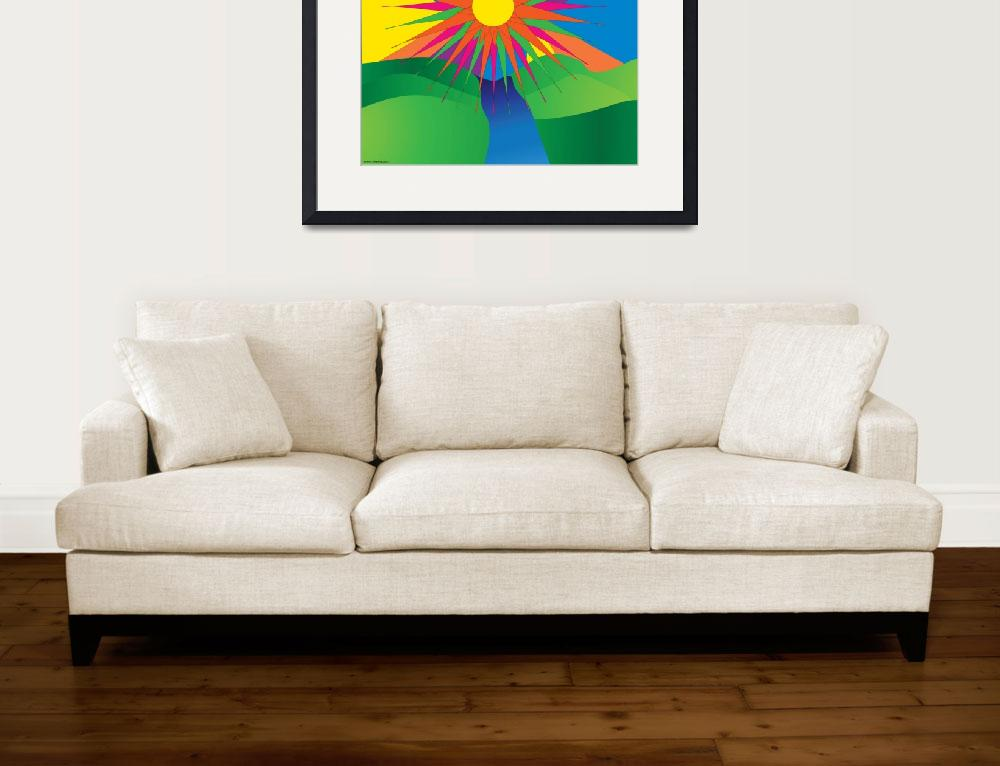 """Psychedelic Sun&quot  (2009) by ValeriesGallery"