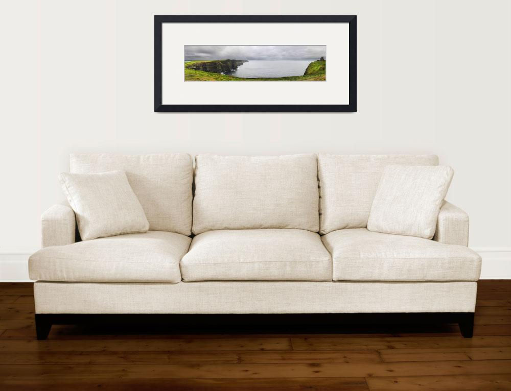 """Storm Approaches Cliffs of Moher&quot  (2011) by PadgettGallery"