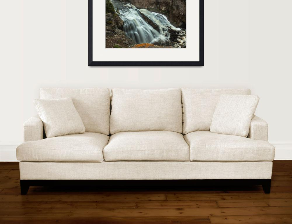"""Smooth Water Of Gibbon Falls&quot  (2015) by haybales"