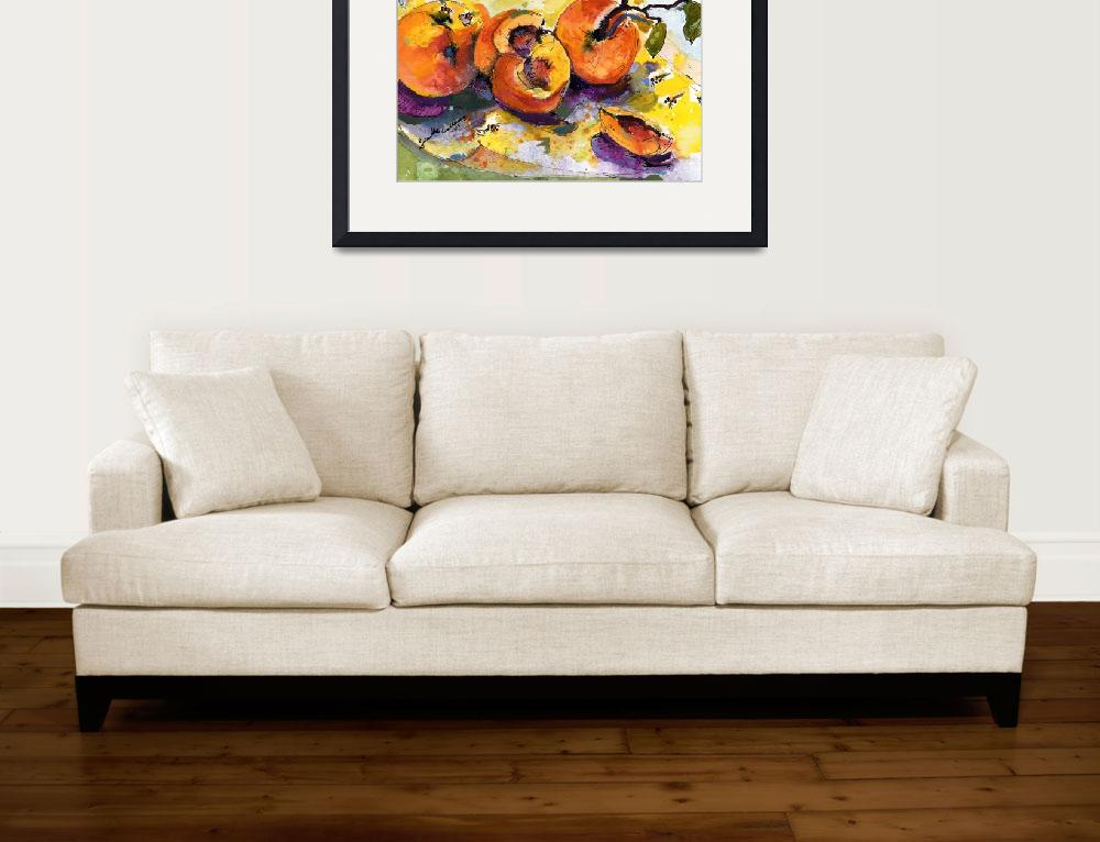 """Peaches & Bees Painting by Ginette Callaway&quot  (2006) by GinetteCallaway"