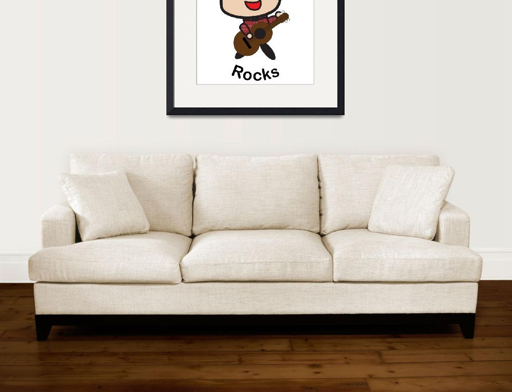 """Grandpa Rocks&quot  (2015) by ValeriesGallery"