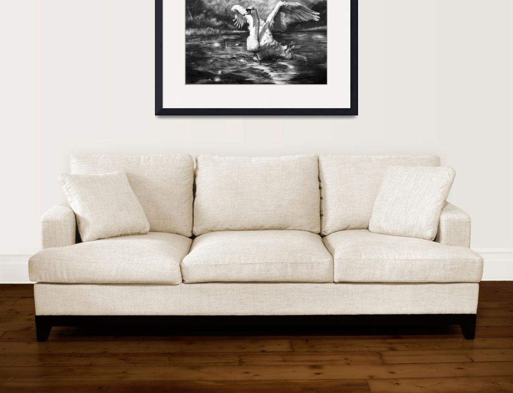 """Ride A White Swan&quot  (2011) by MightyFineArt"