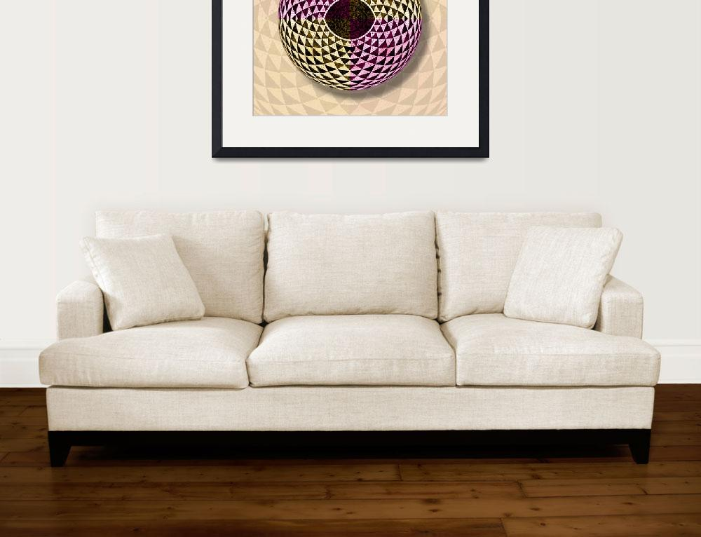"""Mosaic Eye Orb&quot  (2014) by RubinoFineArt"
