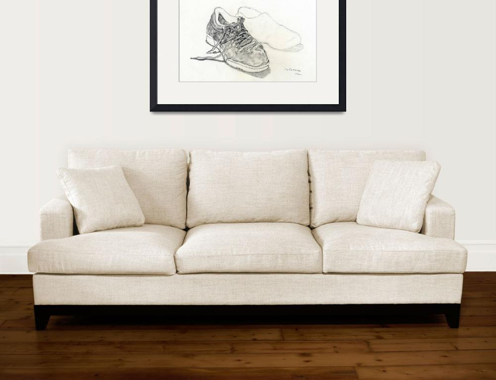 """Sneakers&quot  (1992) by Pencil-On-Paper"