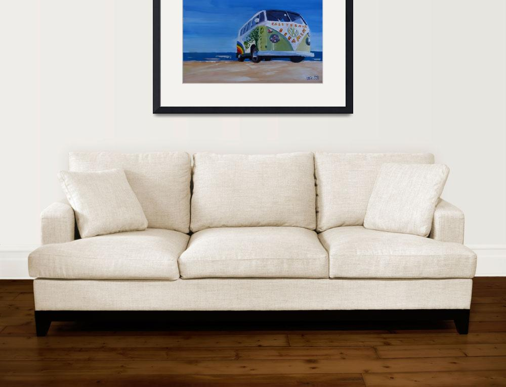 """Surf Bus Series - California Dreaming VW Bus&quot  (2013) by arthop77"