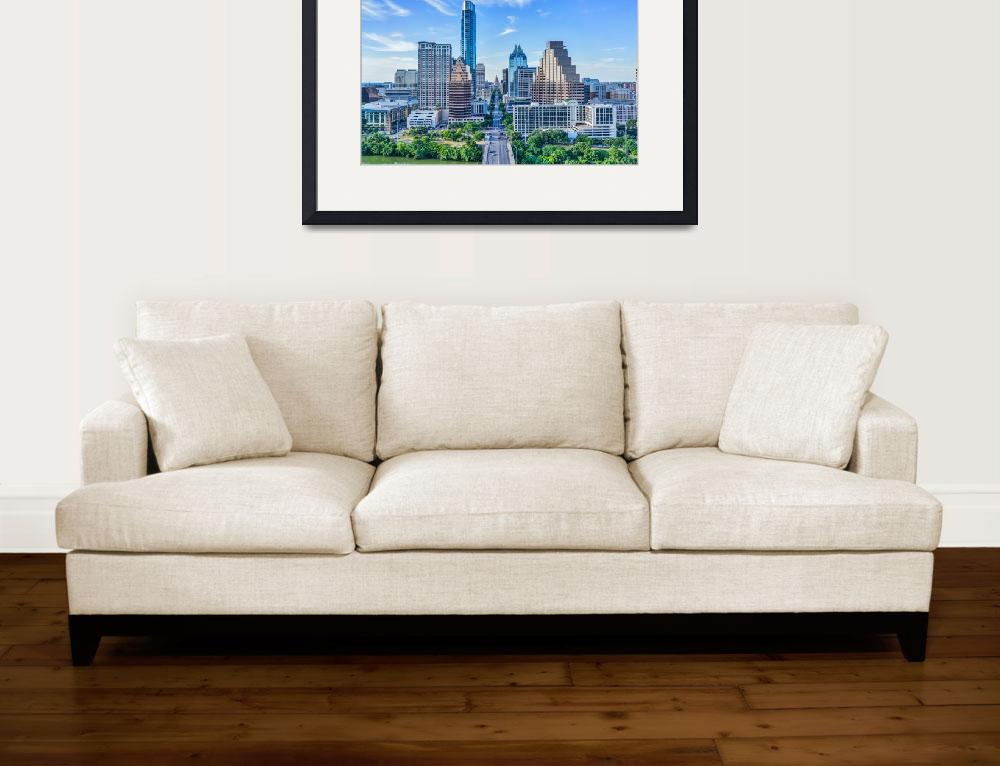 """Austin Cityscape with the Texas Capital&quot  (2015) by beecreekphotography"