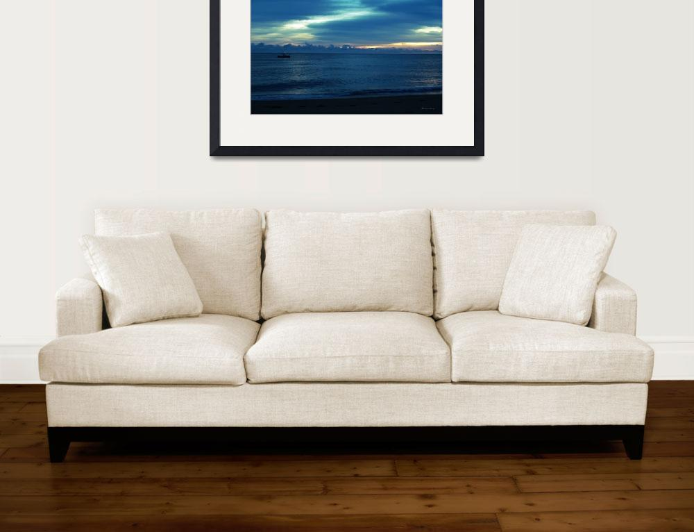 """Seascape Boat Ride at Dawn C2&quot  (2015) by Ricardos"