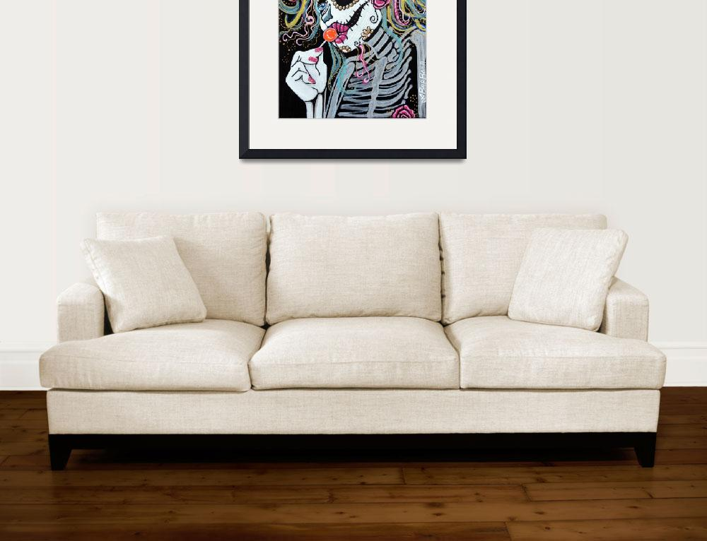 """Sugar Skull Lollipop&quot  (2013) by ArtPrints"