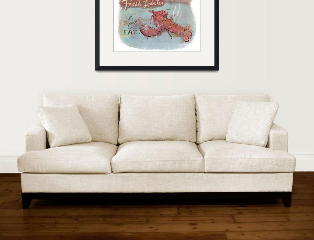 """Harvey Cedars Lobster - Faded&quot  (2009) by Cardona"