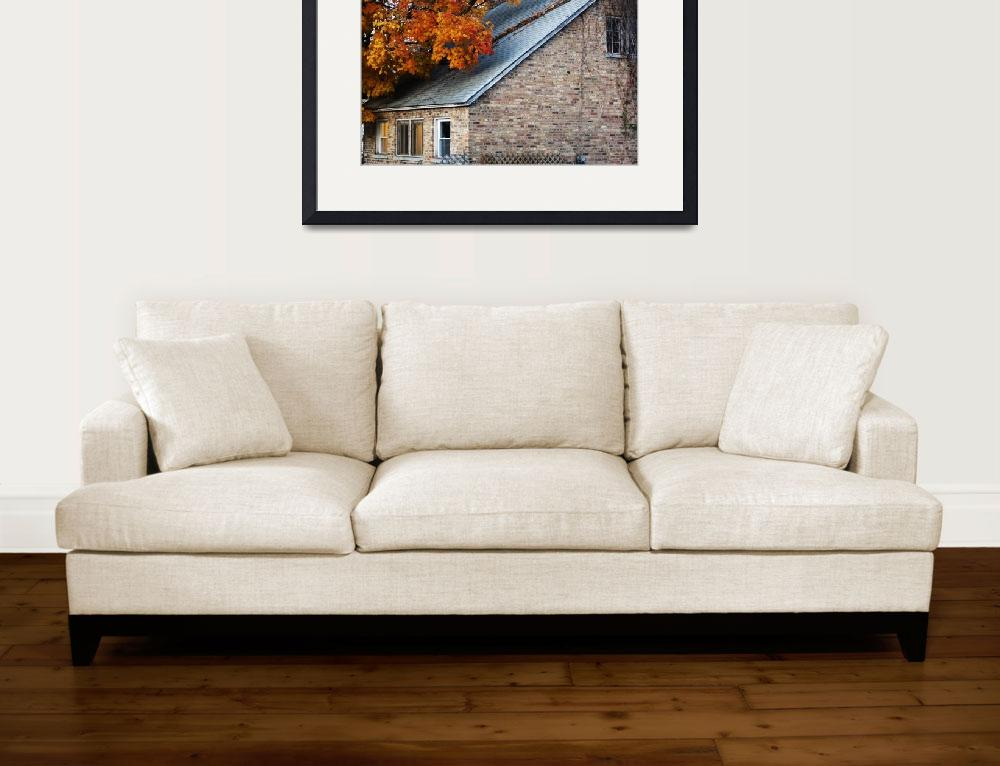 """Quaint Autumn Home&quot  (2009) by lam20"