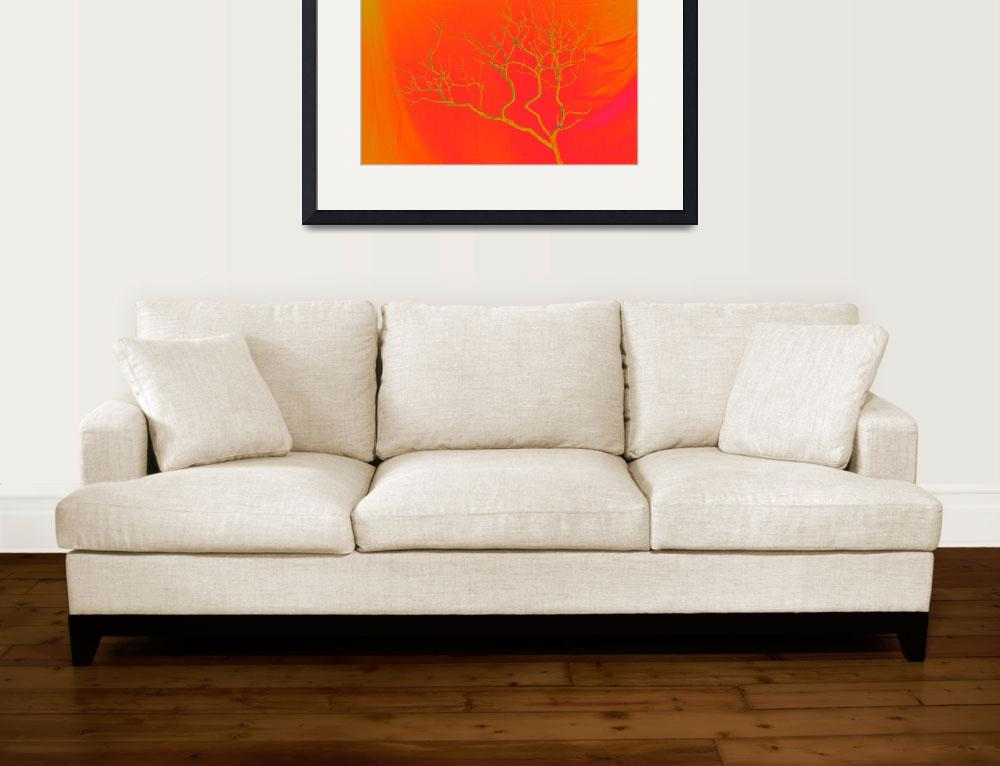 """Leafless Lilac Bush in Orange1&quot  (2015) by Saturato"