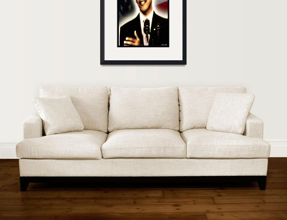 """obama Portrait&quot  (2009) by Briggs"
