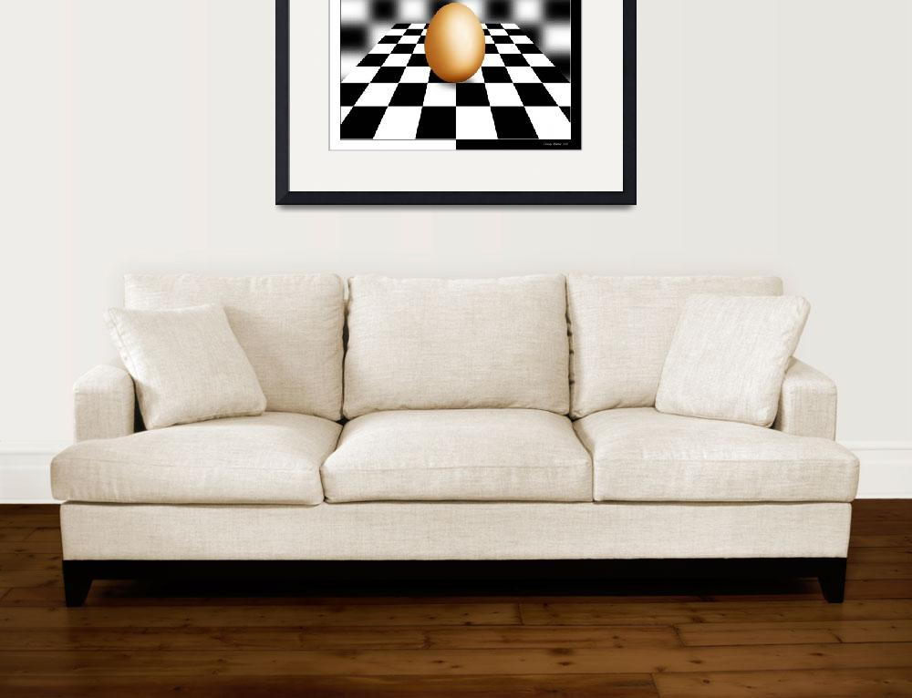 """Chess Board W Egg&quot  (2013) by FALCON60"