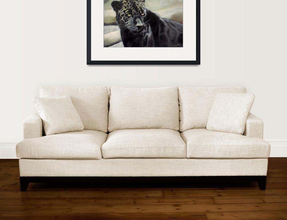 """black jaguar painting for sale&quot  by giftportraits"