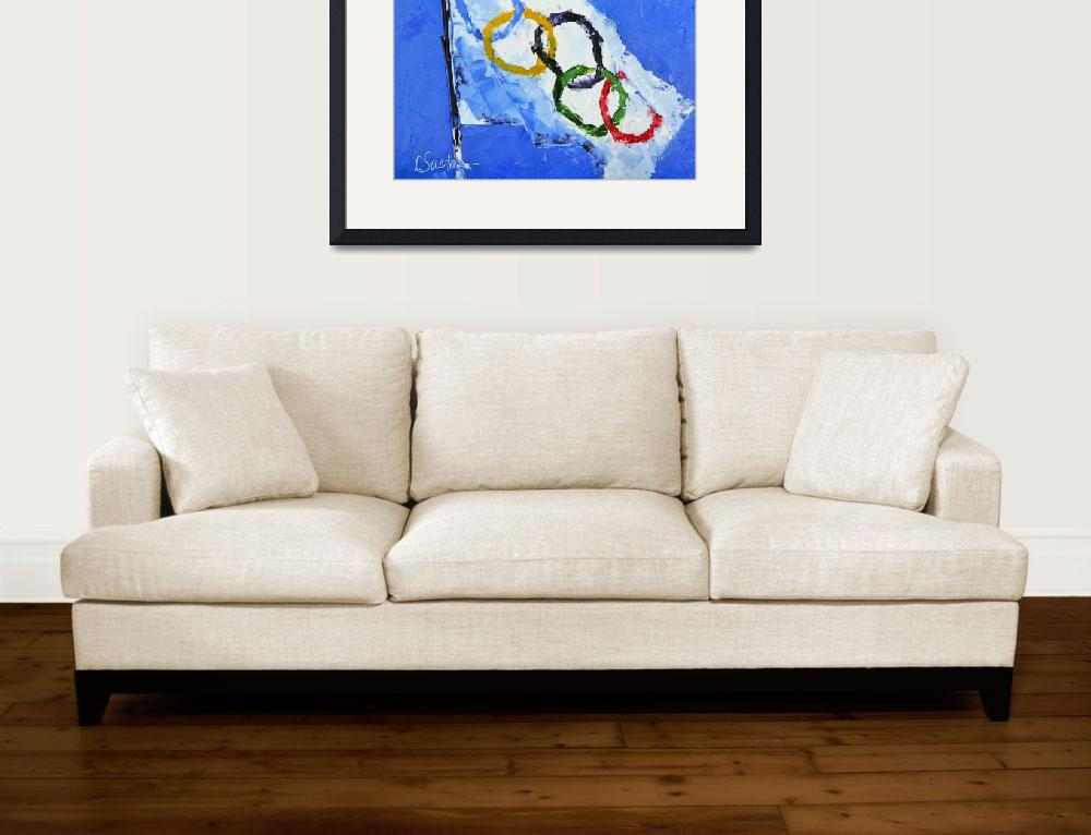 """Olympic Dreams&quot  (2010) by LeslieSaetaFineArt"