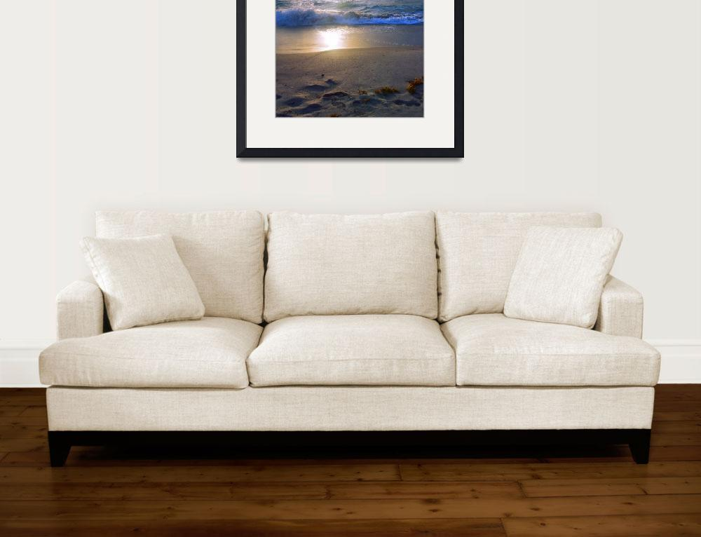 """Treasure Coast Florida Sunrise Seascape B4&quot  (2015) by Ricardos"