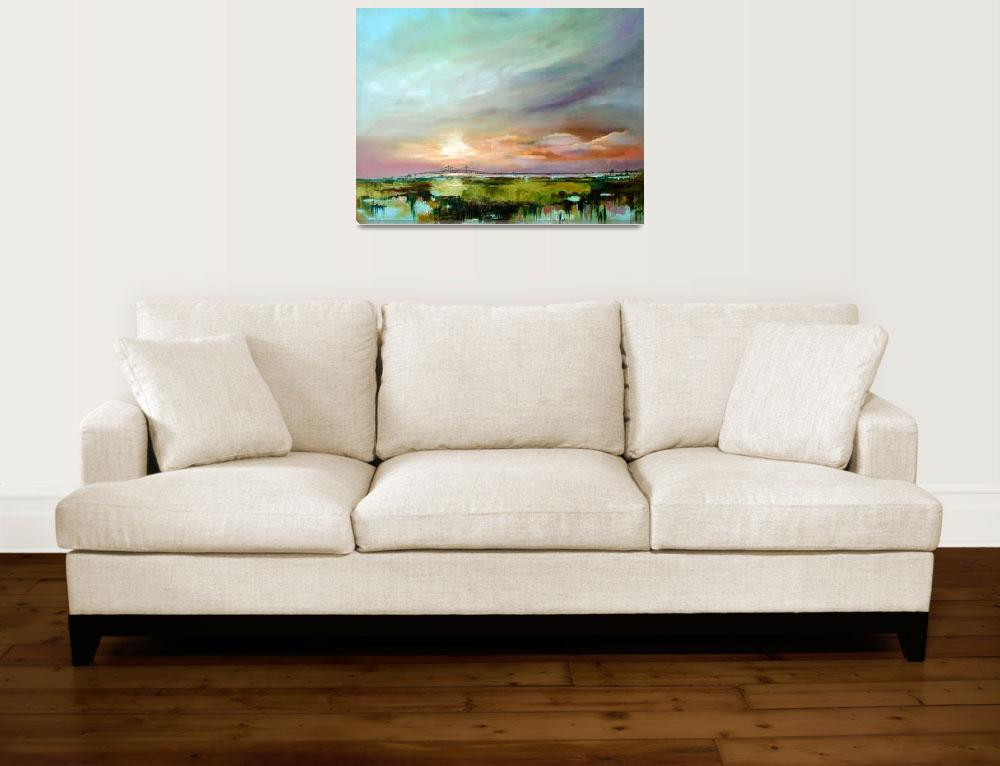 """Salt Marsh Sunset Original Oil Painting by Ginette&quot  (2004) by GinetteCallaway"
