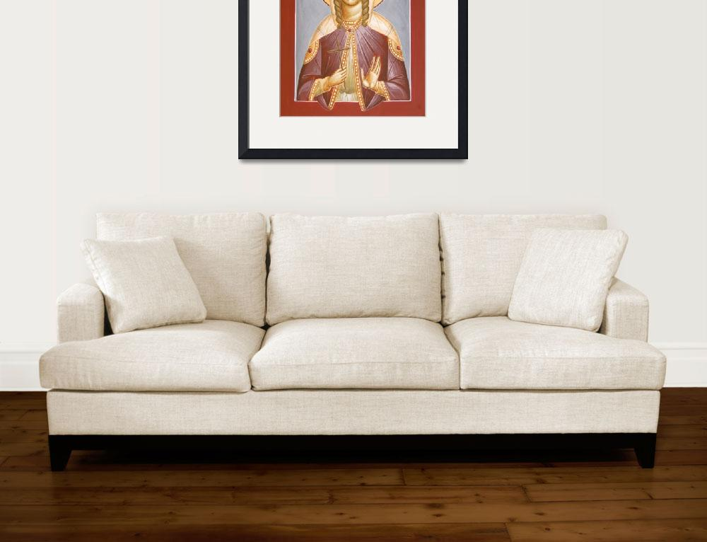 """St Barbara&quot  (2012) by ikonographics"