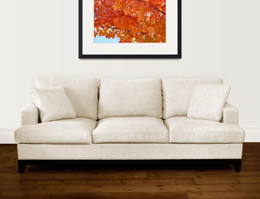 """GOLDEN LEAVES Yellow Orange Autumn Leaves Art&quot  (2009) by BasleeTroutman"