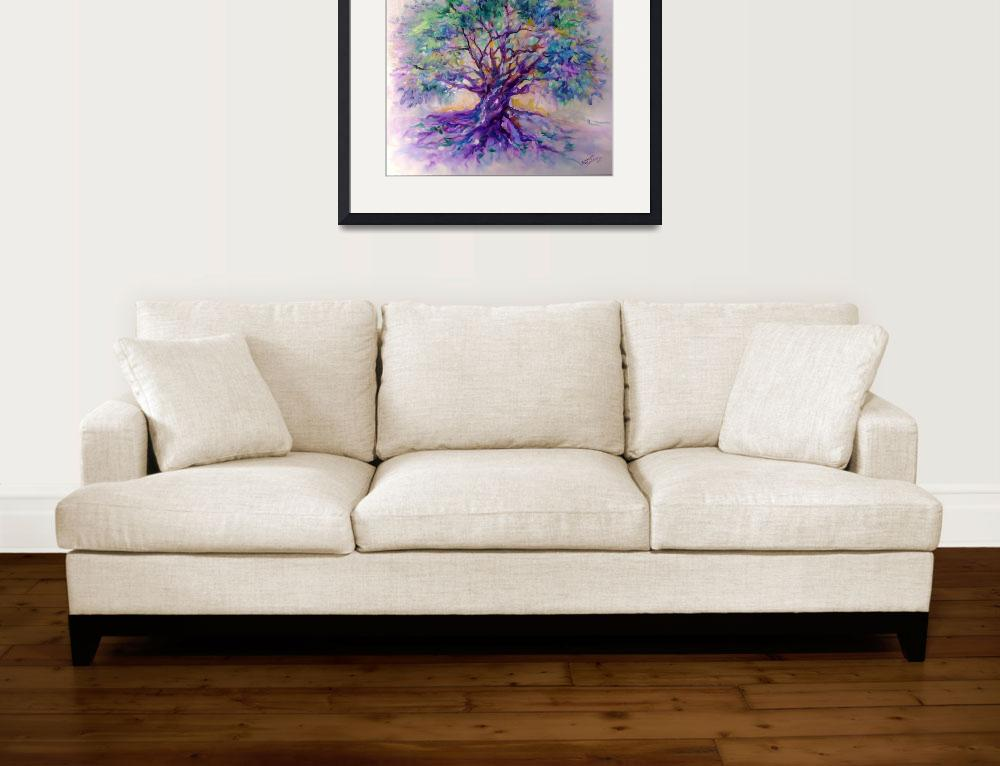 """TREE OF LIFE PURPLE RAIN&quot  (2007) by MBaldwinFineArt2006"