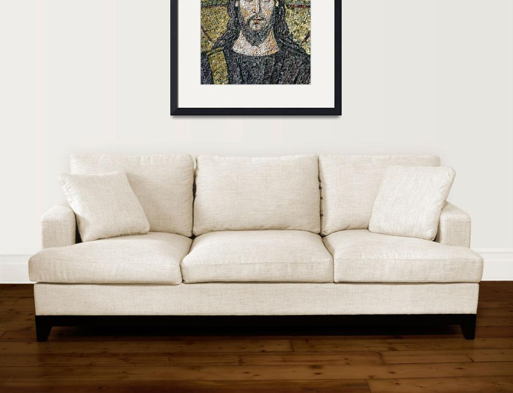 """The Face of Christ (mosaic)&quot  by fineartmasters"