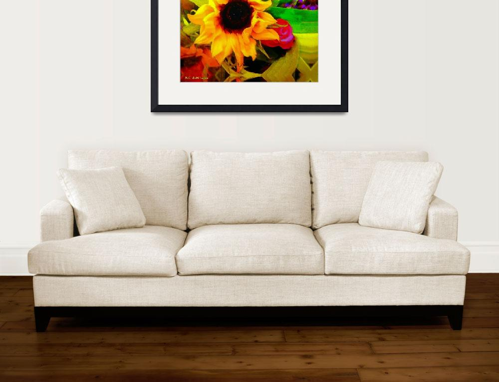 """Sassy Sunflower Bouquet&quot  (2010) by RCdeWinter"