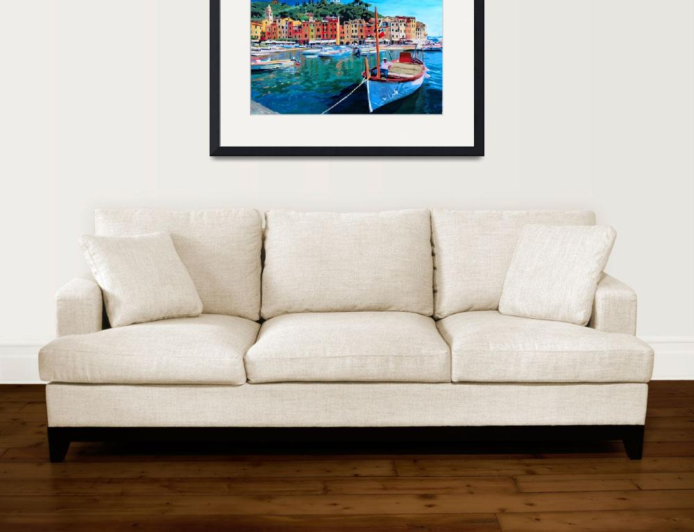 """Tranquility in the Harbour of Portofino&quot  (2012) by arthop77"