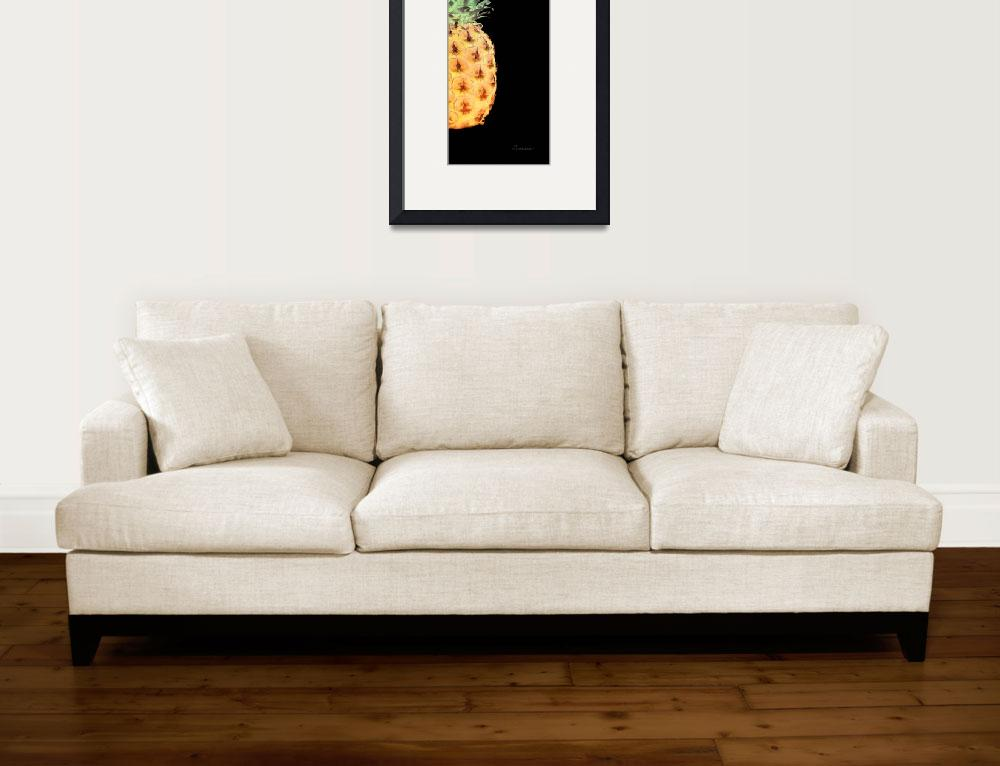 """14RR Abstract Expressive Pineapple Digital Art&quot  (2016) by Ricardos"
