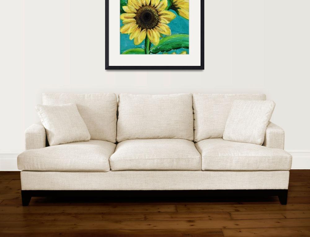 """Sunflowers 1&quot  (2016) by ckjonesart"