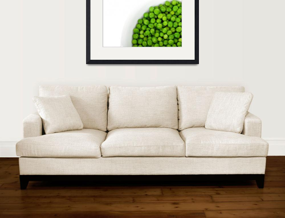 """Green Peas in Bowl&quot  (2011) by ArgosDesigns"