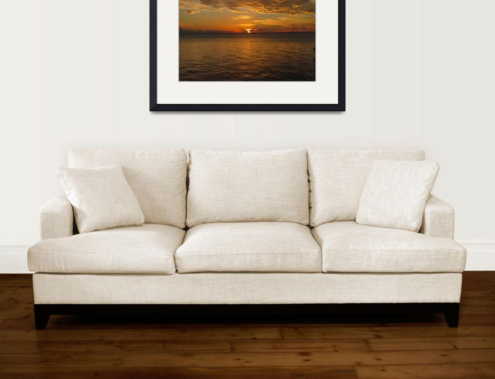 """Sunset on Florida Bay&quot  (2012) by jmwartscrafts"