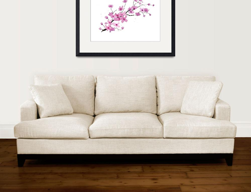 """Cherry Blossoms&quot  (2016) by k9artgallery"