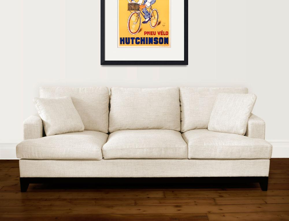 """Advertisement for Hutchinson tyres, c.1937&quot  by fineartmasters"