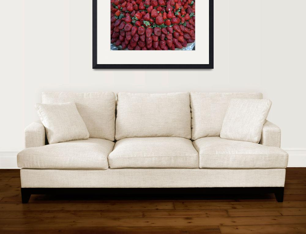 """Strawberry Row&quot  (2010) by DonnaCorless"