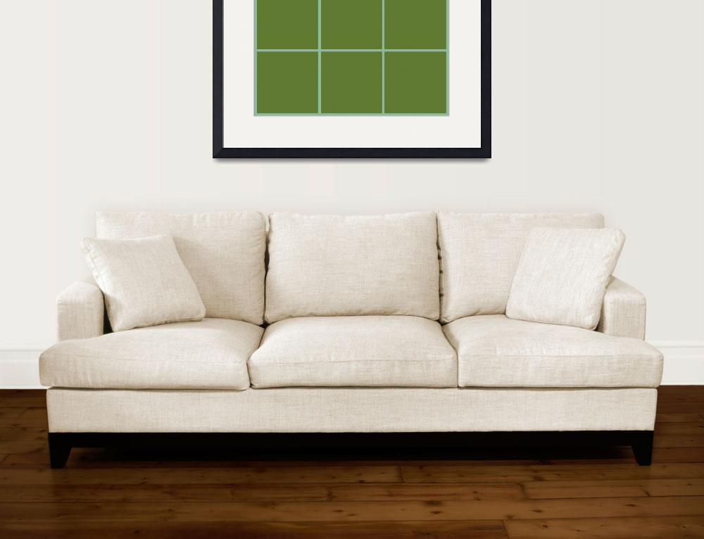 """Green Window 032 Canvas Contemporary Modern&quot  (2010) by Ricardos"
