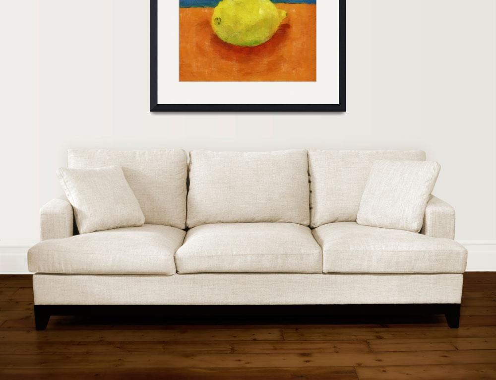 """Lemon with Blue and Orange&quot  (2014) by Michelle1991"