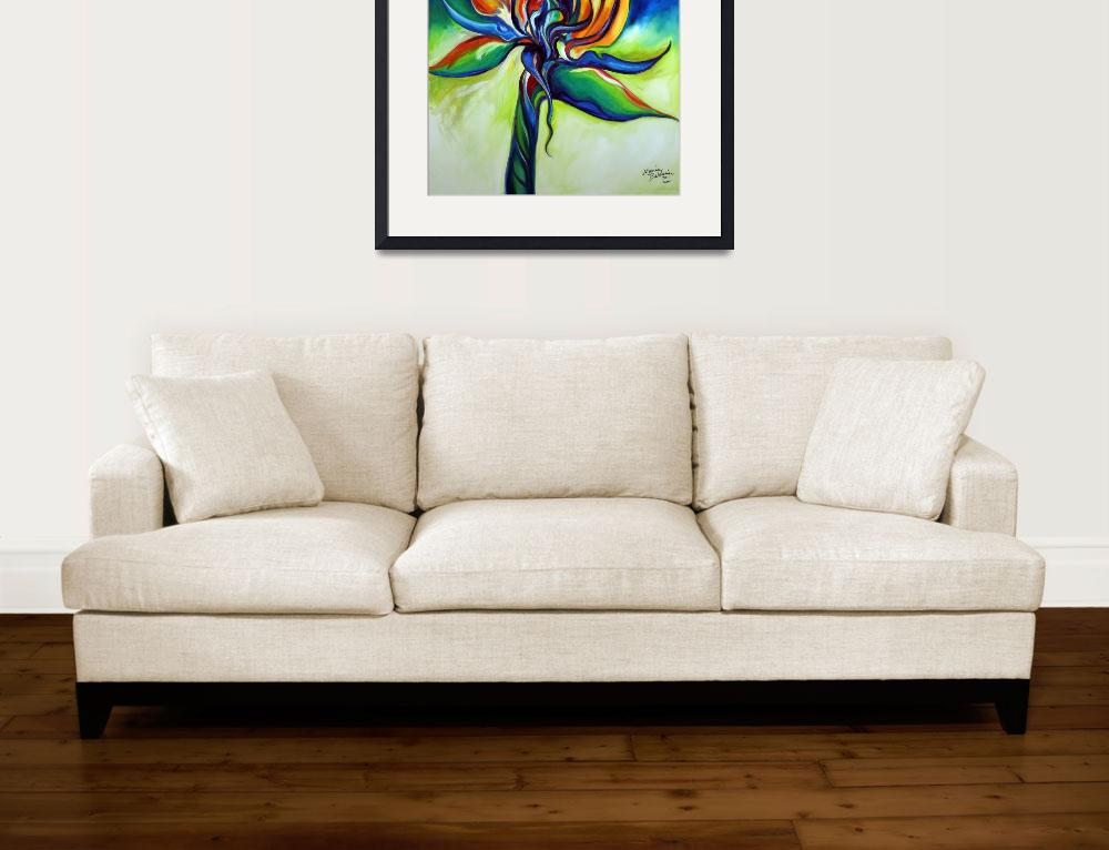 """BIRD OF PARADISE REVISITED&quot  (2011) by MBaldwinFineArt2006"