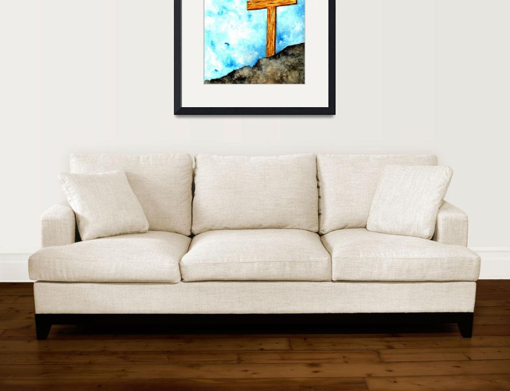 """Wooden Cross on the Hill&quot  (2008) by vigliotti"