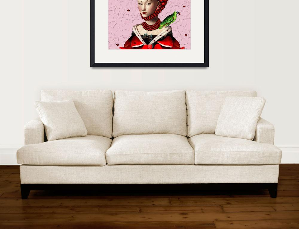 """La mademoiselle en rouge&quot  (2010) by pineappleart"