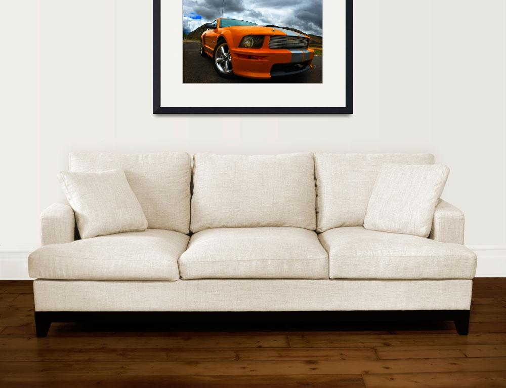 """Ford Orange Shelby Mustang GT Series&quot  (2009) by sw23ct"